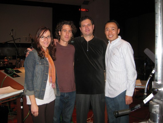 Ben Decter, pictured with BMI's Lisa Feldman & Ray Yee and conductor Marco d'Ambrosio.