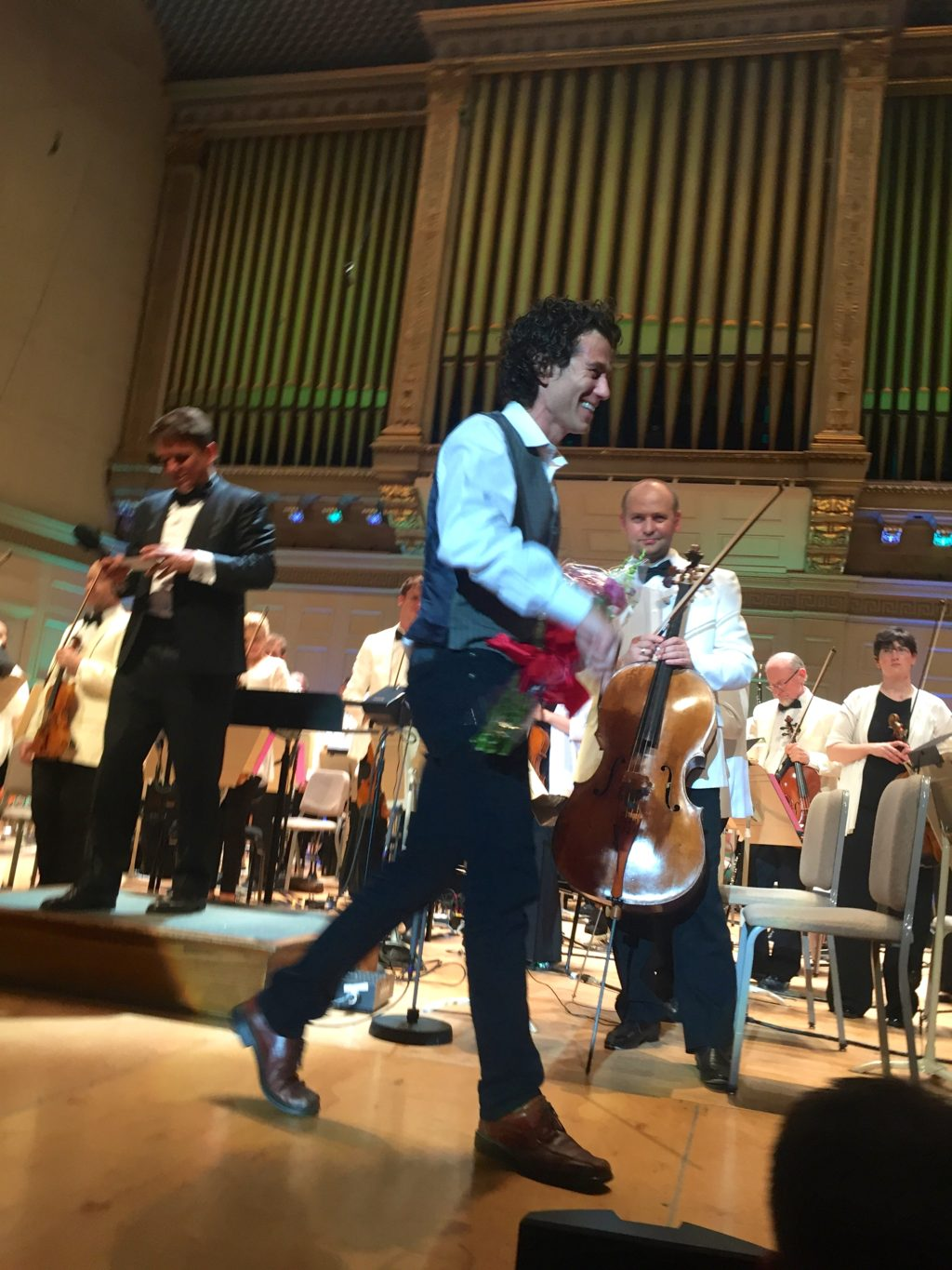 Ben after a performance of his music at the BSO